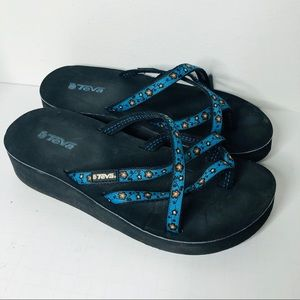 Teva Blue Straps Slip On sandals 7